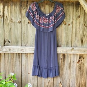 Beautiful off the shoulder knee length dress